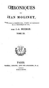 Chroniques de Jean Molinet: Volume3
