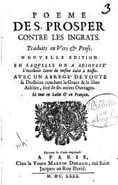 Poeme des prosper contre les Ingrats