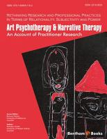 Art Psychotherapy   Narrative Therapy  An Account of Practitioner Research PDF