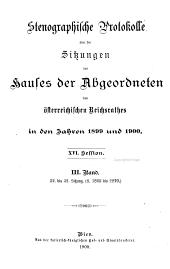 Stenographische Protokolle des Abgeordnetenhauses des Reichsrathes: Band 3