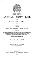 Hart s Annual Army List  Militia List  and Imperial Yeomanry List PDF