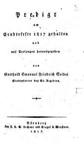 Predigt, am Erndtefeste 1817 gehalten