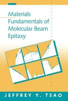 Materials Fundamentals of Molecular Beam Epitaxy PDF