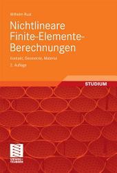 Nichtlineare Finite-Elemente-Berechnungen: Kontakt, Geometrie, Material, Ausgabe 2