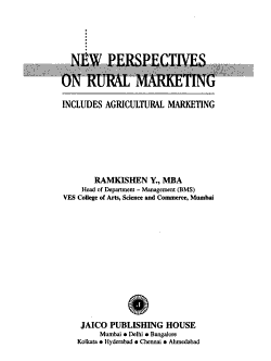 New Perspectives on Rural Marketing PDF