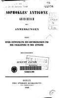 Sophokles  Antigone PDF