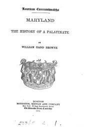 Maryland: The History of a Palatinate