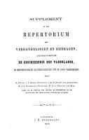 Repertorium der verhandelingen en bijdragen betreffende de geschiedenis des vaderlands  in mengelwerken en tijdschriften tot op 1860 verschenen PDF