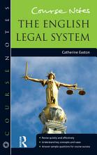 Course Notes  The English Legal System PDF
