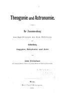 Theogonie und Astronomie PDF
