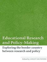 Educational Research and Policy Making PDF