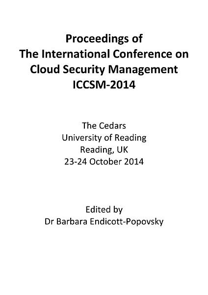 ICCSM2014 Proceedings of the International Conference on Cloud Security Management ICCSM 2014 PDF