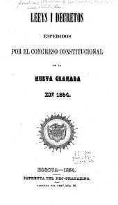 Colección de las leyes i decretos espedidos por el Congreso constitutional de la Nueva Granada