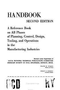 Tool Engineers Handbook PDF
