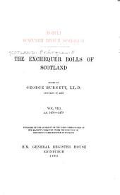 Rotuli Scaccarii Regum Scotorum: Volume 8
