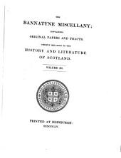 The Bannatyne Miscellany: Volume 3