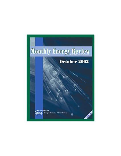 Monthly Energy Review  October 2002 PDF
