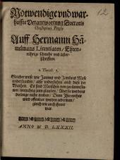 Notwendige und warhaffte Verantwortung Doctoris Christophori Pezelii auf Hermanni Hamelmans Licentiaten Ehrenrührige schmehe und lesterschrifften
