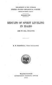 Results of spirit leveling in Idaho, 1896 to 1914, inclusive: Issues 564-571