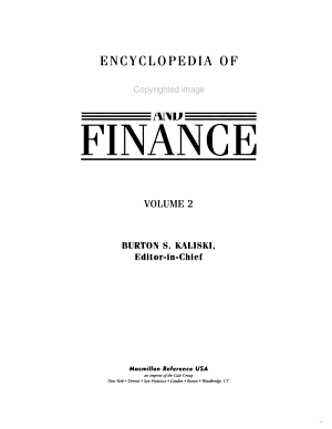 Encyclopedia of business and finance PDF
