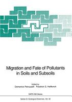 Migration and Fate of Pollutants in Soils and Subsoils PDF