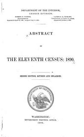 Abstract of the Eleventh Census: 1890