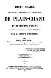Dictionnaire liturgique, historique et théorique de plain-chant et de musique d'église au moyen âge et dans les temps modernes