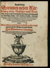 Kunstbüchlin: Darinnen neben Fürbildung vieler Geistlicher unnd Weltlicher Hohes und Niderstands Personen so dann auch der Türckischen Kayser ... begriffen