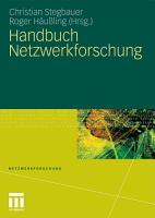 Handbuch Netzwerkforschung PDF