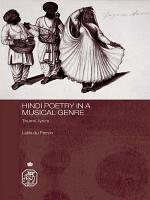 Hindi Poetry in a Musical Genre