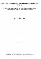Nigerian Universities Dissertation Abstracts  NUDA  PDF