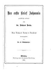 Der erste Brief Johannis praktisch erklärt