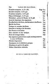 Histoire de la décadence et de la chûte de l'Empire romain: Volume10