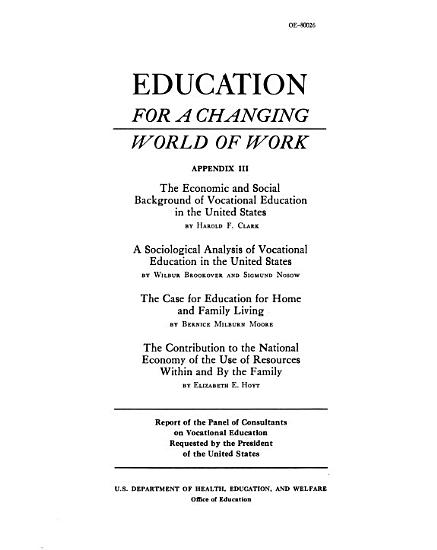 Education for a Changing World of Work PDF
