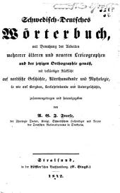 Schwedisch-Deutsches Wörterbuch