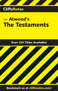 CliffsNotes on Atwood s The Testaments