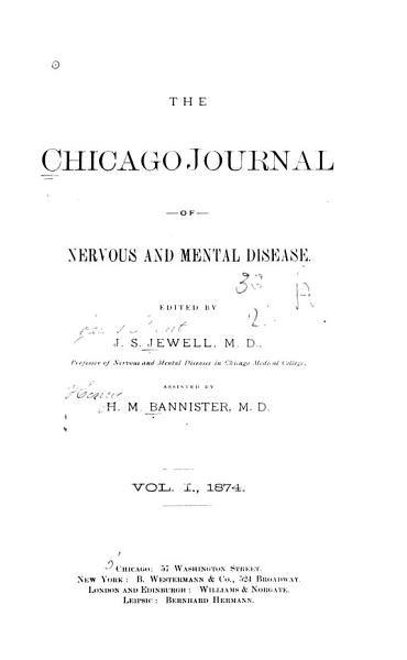 Download Journal of Nervous and Mental Disease Book