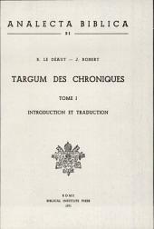 Targum des Chroniques: Numéro51,Volume1