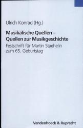 Musikalische Quellen  Quellen zur Musikgeschichte PDF