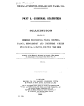 Judicial Statistics, England and Wales