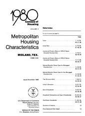 1980 census of housing: Metropolitan housing characteristics. Midland, Tex