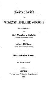 Zeitschrift für wissenschaftliche zoologie: Band 13