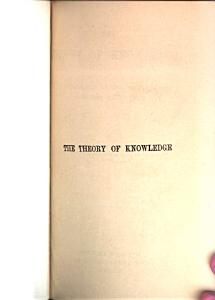 The Theory of Knowledge PDF