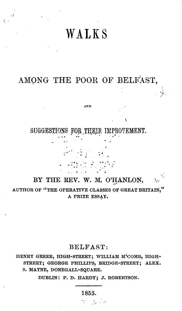 Walks Among the Poor of Belfast