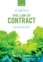 JC Smith s the Law of Contract PDF