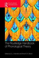 The Routledge Handbook of Phonological Theory PDF