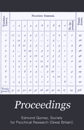 Proceedings of the Society for Psychical Research: Volume 6