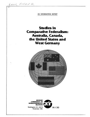 Studies in Comparative Federalism  Australia  Canada  the United States  and West Germany PDF