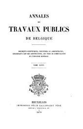 Annales des travaux publics de Belgique: Volume36