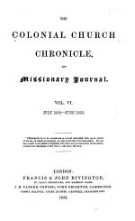 The Colonial Church Chronicle, and Missionary Journal